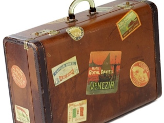Well traveled suitcase